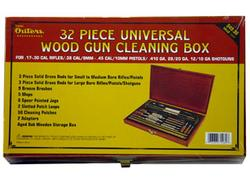 Outers 32PC Universal Cleaning Kit Wood Box