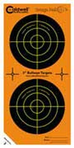 Caldwell Orange Peel Bulls Eye Targets w/ Dual-color Flake-off, 3in, 15 Sheets 391984