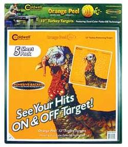 Caldwell Orange Peel 12 Inch Turkey Targets w/ Dual-color Flake-off -12in, 5 Sheets - 586485