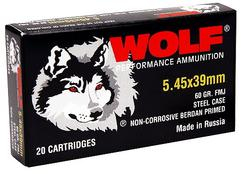 Wolf 545BFMJ Polyformance 5.45mmX39mm Full Metal Jacket 60 GR 750Rds