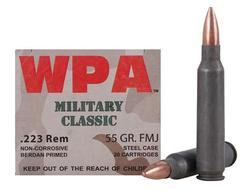 Wolf MC22355FMJ Military 223 Remington/5.56 Nato Full Metal Jacket 55 GR 500Rds