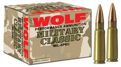 Wolf 308FMJ Polyformance 308 Winchester (7.62 NATO) Bimetal Jacket 145 GR 500Rds