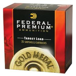 "Federal Gold Medal Target 20 Ga. 2 3/4"" 7/8 oz, #9 Lead Shot 25/10"