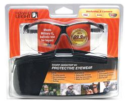 Howard Leight Genesis XC Lens Combo Kit w/ Black Frame, Clear/Amber/Vermilion Lenses R-01637