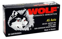 Wolf Handgun .45 Acp 230 GR Full Metal Jacket