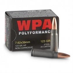 Wolf 762HPTINS Polyformance 7.62mmX39mm Hollow Point 122 GR 700Rds