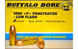 Buffalo Bore Ammunition 9MM  P 124 Grain FMJ-FN Brass 9mm 20Rds