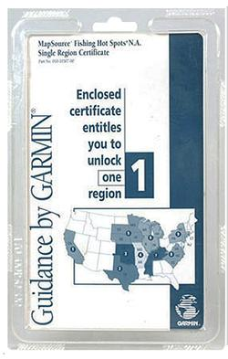 Garmin 0101030700 Single REGION CERTIFICATE
