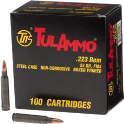 TULA 223rem 55 Grain Full Metal Jacket 100 Rounds