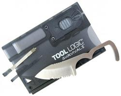 SOG Knives SOG TOOL LOGIC SURVIVAL CARD W/LITE CHARCOAL SOG SVC2
