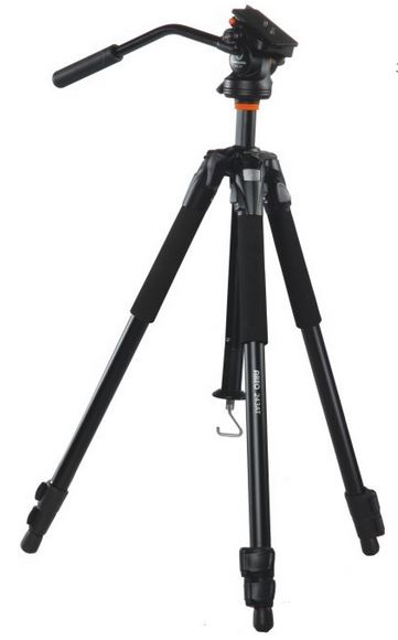 Vanguard ABEO 243AV Aluminum Video Tripod w/Pan Head & Carry Bag
