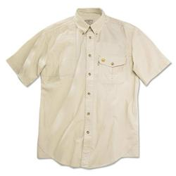 Beretta BERETTA SHOOTING SHIRT MEDIUM SHORT SLEEVE COTTON TAN<