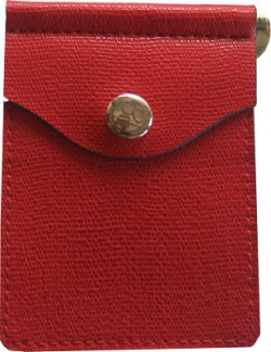 Concealed Carrie CONCEALED CARRIE COMPAC WALLET RED LEATHER