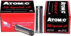 ATOMIC AMMO .38 SPECIAL +P