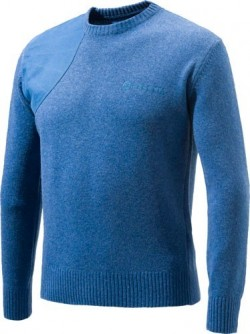 BERETTA MEN'S CLASSIC ROUND NECK SWEATER SMALL BLUE