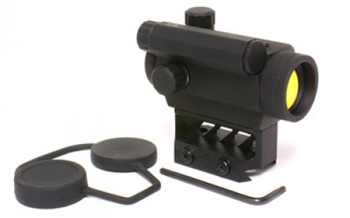 Black Spider Optics 1x20 Micro Red Dot Sight,3 MOA,Black,Box BLKSPDRM0129
