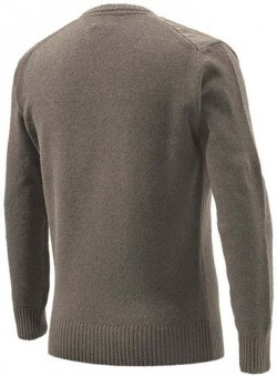 BERETTA MEN'S CLASSIC ROUND BROWN SWEATER