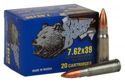 7.62X39 - 123 Grain FMJ - Silver Bear - 500 Rounds