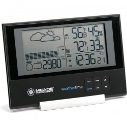 Meade Slim Line Personal Weather Station with Atomic Clock TE636W