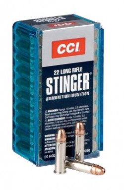CCI AMMO 22LR STINGER 32 GR COPPER PLATED HOLLOW POINT 1640 FPS 50PK