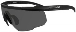 Wiley X Saber Advanced Sunglasses - Smoke Grey Lens / Matte Black Frame, 302