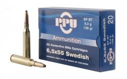 PPU 6.5X55 SWEDISH SP 139GR 20/200