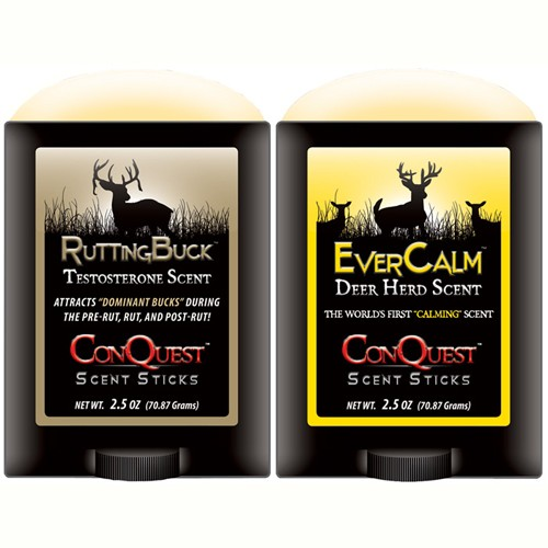 ConQuest Rutting Buck/Deer Herd Scent Stick Combo - Natural