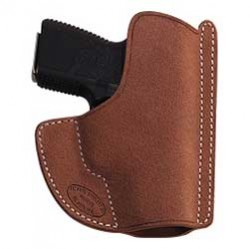El Paso Saddlery Pocket Max Pocket Holster, Ambi, Medium Brown, Fits Kahr PM9, PM40, MK9, MK40, PMPM9 PMPM9