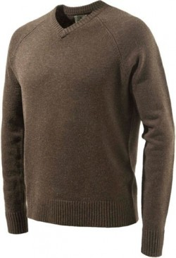BERETTA MEN'S CLASSIC V-NECK  SWEATER  BROWN