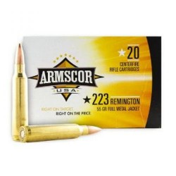 Armscor V-MAX 55 Grain Brass .223 Rem 20Rds