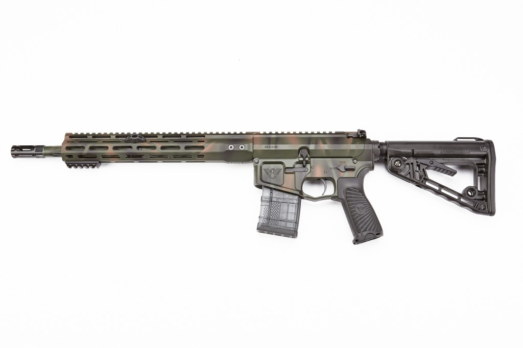"Wilson Combat Recon Tactical Rifle, .458 SOCOM, 14.7"" Barrel, 1-22 Twist, Forest Camo"