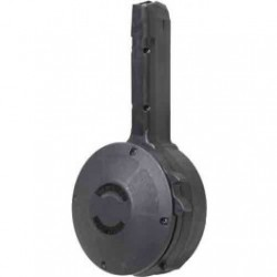 KCI For Glock 17,19,26 Drum Magazine Black 9mm 50Rds