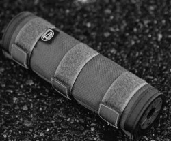 Silencerco Supressor Cover Gray 6 Inches