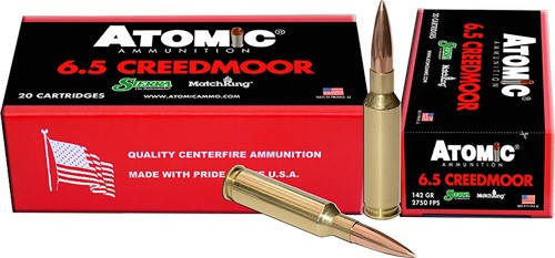 Atomic Ammunition 6.5 Creedmoor Rifle Ammunition