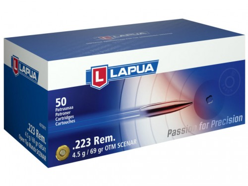 LAPUA RIFLE AMO .223 REM 5.56MM 69GR HPBT 50RD