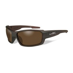 Wiley X WX Rebel Sunglasses - Polarized Bronze Lens / Matte Layered Tortoise Frame, ACREB04