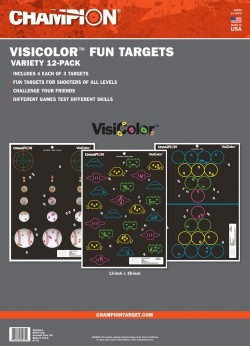 Champion Targets 45830 VisiColor Fun Games 12 Targets