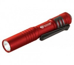 STREAMLIGHT FLASHLIGHT KEY CHAIN MICO STREAM W/ALK BATTERY CLAM PACK RED