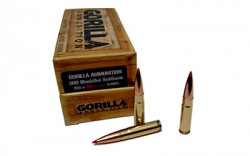 Gorilla .300 AAC Blackout Ammunition 20 Rounds A-Max SS 208 Grains