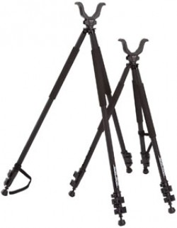 BogPod Tactical Series 3 Tall Tripod, Black w/ Inch Scale & All-Terrain System 735540