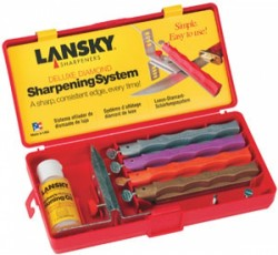 Lansky Deluxe Diamond Four-Stone Knife-Sharpening System
