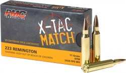 PMC X-TAC, .223 Rem Sierra Match, 77 Grain, OTM, 20 Rounds