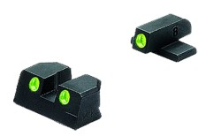Meprolight Night Sights for Sig 9mm & .357 Sig P Series, Green #8 Front & Rear