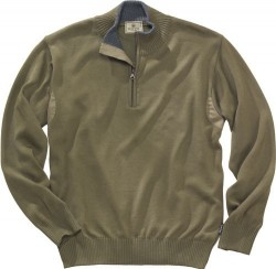BERETTA MEN'S PP TECH WOOL 1/2 ZIP SWEATER VERDE OLIVE SMALL