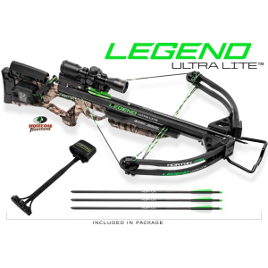 Horton Legend UltraLite Premium Crossbow Package ACUdraw 3x ProView2 Scope - Mossy Oak Treestand
