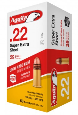 AGUILA AMO 22 short SOLID POINT 29GR LEAD 50RDS