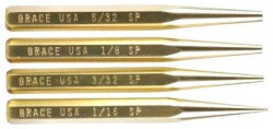 Grace USA Tools Brass Punch Set Starter, 4 Pieces