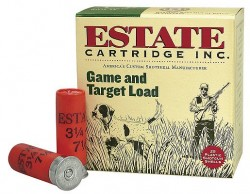 Estate Game & Target Load 12GA 2.75-inch 1oz #7.5 Shot 25Rds