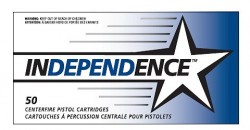 Independence 9mm Pistol Ammunition, 50 Rounds, FMJ, 124 Grains 5257