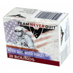 Team Never Quit Self Defense Handgun Ammunition 9mm 115 gr SCHP 20/ct
